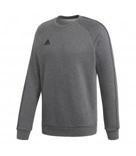 Sudadera con cuello redondo y sin capucha para deporte adidas Core 18 de color gris al mejor precio en tu tienda de deportes online chemasport.es