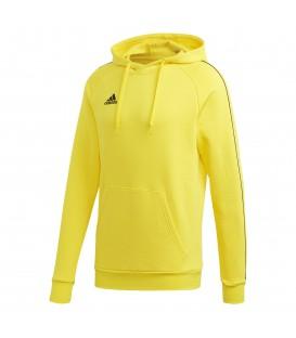 Sudadera con capucha para hombre adidas CORE 18 de color amarillo al mejor precio en chemasport.es