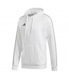 Sudadera con capucha para hombre adidas CORE 18 de color blanco al mejor precio en tu tienda de deportes chemasport.es