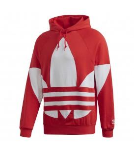 Sudadera con capucha para hombre adidas Originals Big Trefoil FM9907 de color rojo al mejor precio en Chema Sneakers Pontevedra