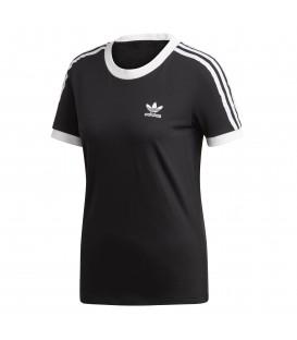 Camiseta para mujer adidas 3 bandas W ED7482 de color negro al mejor precio en tu tienda de moda online chemasport.es