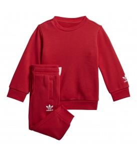 Chándal para niños adidas Big Trefoil FM5609 de color rojo al mejor precio en tu tienda de deportes online chemasport.es