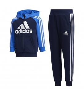 Chándal para niños adidas French Terry de color azul al mejor precio en tu tienda de deportes barata online chemasport.es