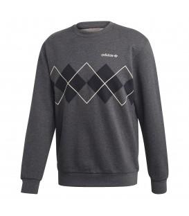 Sudadera para hombre con cuello redondo adidas Argyle de color gris al mejor precio en tu tienda de moda online Chema Sneakers Pontevedra