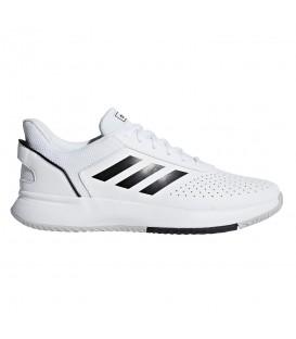Deportivas de padel para hombre adidas Courtmash de color blanco al mejor precio en tu tienda de deportes online chemasport.es