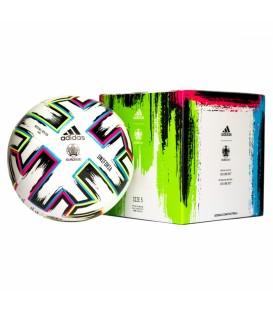 Balón de adidas para entrenamiento de fútbol con certificado de la FIFA Uniforia League Box FH7376 de color blanco en chemasport.es
