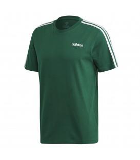 Camiseta de adidas para hombre adidas Essentials 3 bandas FM6230 de color verde al mejor precio en tu tienda de deportes online chemasport.es