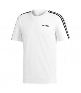 Camiseta para hombre adidas Essentials 3 bandas DU0441 de color blanco al mejor precio en tu tienda de deportes online chemasport.es