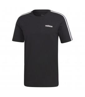 Camiseta para hombre adidas Essentials 3 bandas DQ3113 de color negro al mejor precio en tu tienda de deportes online chemasport.es