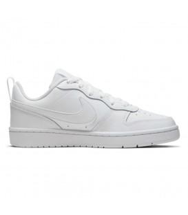 Deportivas para mujer y niños Nike Court Borough Low 2 de color blanco al mejor precio en tu tienda de deportivas online chemasport.es