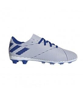Botas de fútbol para niños adidas Nemeziz 19.4 FxG J EF1740 de color azul al mejor precio en tu tienda de deportes online chemasport.es