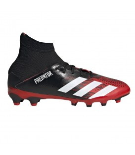 Botas de fútbol para niños adidas Predator 20.3 MG J EF1946 de color rojo al mejor precio en tu tienda de deportes online chemasport.es