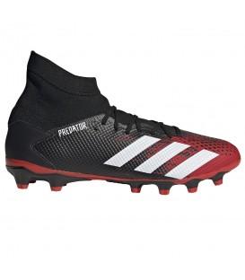 Botas de fútbol para hombre adidas Predator 20.3 MG EF1999 de color rojo y negro al mejor precio en chemasport.es