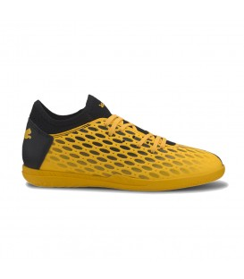 Deportivas de fútbol sala para niños Puma Future 5.4 IT J de color amarillo al mejor precio en tu tienda de deportes online chemasport.es