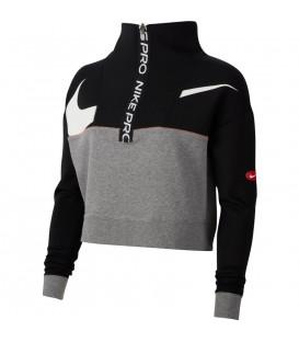 Sudadera para mujer Nike Pro Dri-FIT Get fit de color negro al mejor precio en tu tienda de deportes online chemasport.es
