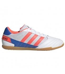 Zapatillas de fútbol sala adidas super sala FV2560 de color blanco para hombre al mejor precio en chemasport.es