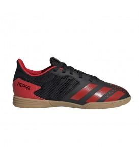 Deportivas de fútbol sala para niños adidas Predator 20.4 IN J EF1979 de color negro y rojo al mejor precio en chemasport.es