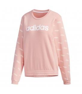 Sudadera para mujer adidas Favourites Sweatshirt W FM6184 de color rosa al mejor precio en tu tienda de moda online chemasport.es