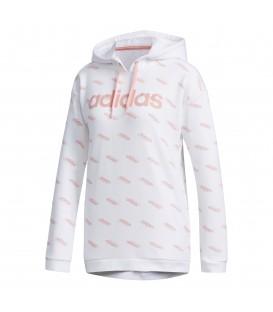 Sudadera para mujer adidas Favorite FN6193 de color blanco con logos de adidas al mejor precio en chemasport.es