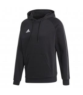 Sudadera de fútbol para hombre adidas CORE 18 con capucha de color negro al mejor precio en tu tienda de fútbol online chemasport.es