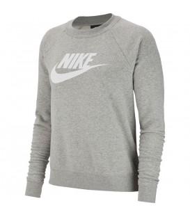 Sudadera para mujer Nike Sportswear Essential de color gris al mejor precio en tu tienda de deportes online chemasport.es
