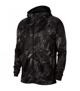 Chaqueta con capucha con estampado de marmol Nike Spotlight BV9351-010 de color negro al mejor precio en chemasport.es