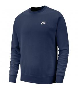 Sudadera para hombre Nike Sportswear Club BV2662-410 de color azul marino al mejor precio en tu tienda de deportes online chemasport.es