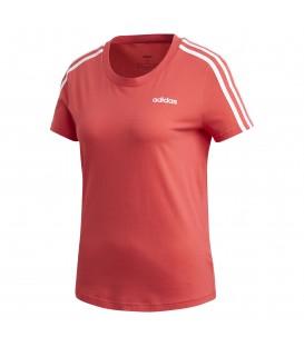 Camiseta de entrenamiento adidas Essentials 3 bandas FM6431 de color rosa al mejor precio en tu tienda de deportes online chemasport.es