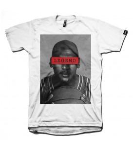 Camiseta básica unisex de la marca Leg3nd Michael Jordan la leyenda del baloncesto. Otros modelos de camisetas de baloncesto en chemasport.es
