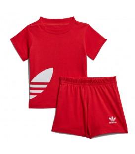Conjunto para niños adidas Originals Big Trefoil FM5610 de color rojo al mejor precio en tu tienda de moda para niños en Pontevedra Chema Sneakers.