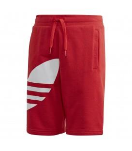 Pantalón corto para hombre adidas Big Trefoil de color rojo al mejor precio en chemasport.es