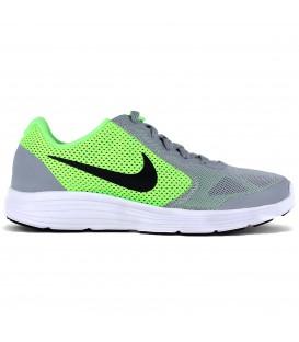 c700b4b5e64 Zapatillas de running Nike Revolution 3 GS en gris combinado con verde