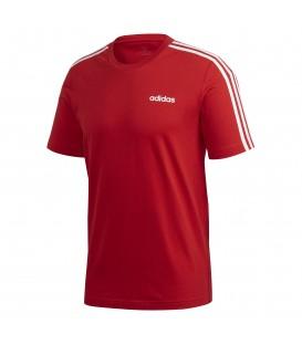 Camiseta para hombre adidas Essentials 3 bandas FS9752 de color rojo al mejor precio en tu tienda de deportes online chemasport.es