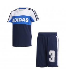 Chándal para niños adidas Graphic de color azul al mejor precio en tu tienda de deportes online para niños chemasport.es