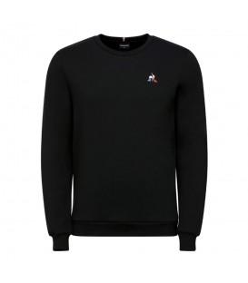 Sudadera para hombre Le Coq Sportif Essentiels de color negro con logo de LCS al mejor precio en chemasport.es