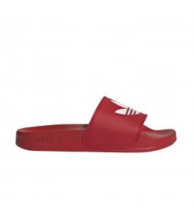 Chanclas de adidas Originals para mujer y niños adidas Adilette Lite J de color rojo al mejor precio en tu tienda de moda online chemasport.es