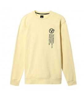 Sudadera para hombre Vans Distort Type confeccionada en algodón de color amarillo al mejor precio en tu tienda de moda en Pontevedra