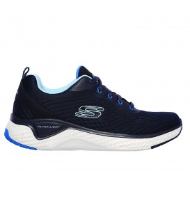 zapatillas skechers solar fuse para mujer en color azul marino al mejor precio en tu tienda online chemasport.es