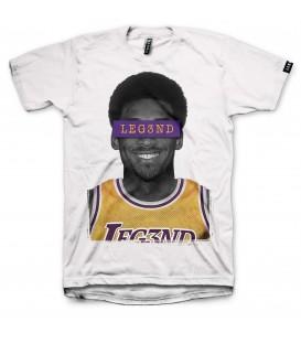 camiseta leg3nd mamba unisex en color blanco al mejor precio en tu tienda online chemasport.es