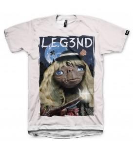Camiseta Leg3nd unisex E.T en color blanco en tu tienda online chemasport.es