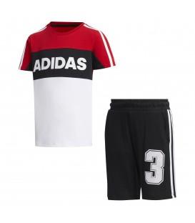 conjunto de adidas de pantalón corto para niño en color blanco al mejor precio