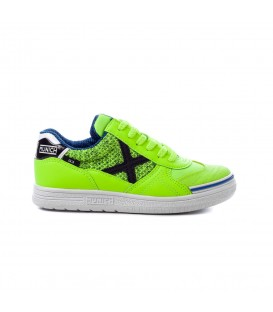 Zapatillas de fútbol sala para niños Munich G-3 Kid Indoor de color verde al mejor precio en tu tienda de deportes online chemasport.es