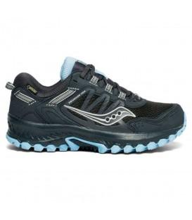 zapatillas saucony exvursion tr13 de goretex para mujer en color negro al mejor precio