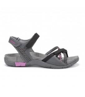 sandalias chiruca valencia para mujer en color gris y cierre de velcro al mejor precio