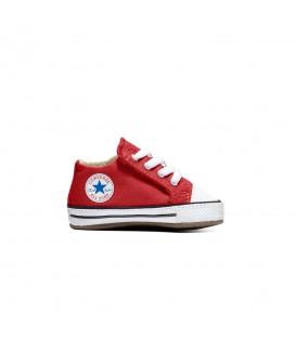 Patucos para bebés Converse Chuck Taylor All Star Cribster de color rojo al mejor precio en tu tienda de deportes online chemasport.es