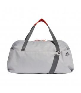 bolso deportivo adidas unisex en color gris con detalles en naranja y varios bolsillos perfecta para el dia a dia y al mejor precio