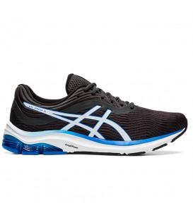 zapatillas asics gel 11 de running para hombre en color negro y azul disponible en tu tienda de pontevedra chemasport y chemasport.es