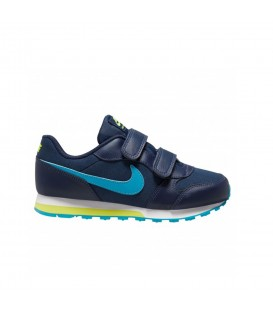 zapatillas Nike mn runner para niño con cierre de velcro en color azul al mejor precio