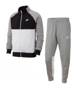 Chándal para hombre Nike Sportswear de color gris con pantalón y chaqueta al mejor precio en chemasport.es