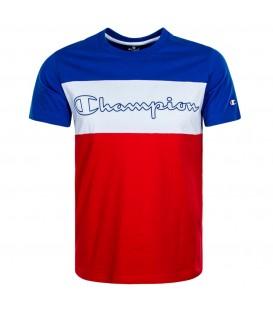 camiseta champion para hombre en color rojo y azul disponible en tu tienda online chemasport.es